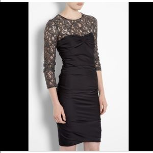 Moschino black dress with lace NWT